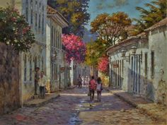 Alphonse Mucha, Claude Monet, Edward Moran, Street Painting, Fine Art, City Streets, Decoupage, Landscape, Paintings