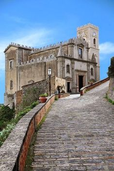 Chiesa San Nicolò - ph. Dennis Jarvis #Sicily, #Savoca  #borghipiubelliditalia   The Church of San Nicolò seems almost stretch out into space, built as it is on a massive outcrop of rock. It has three wide aisles and an austere atmosphere of the steep fortress over the valley.