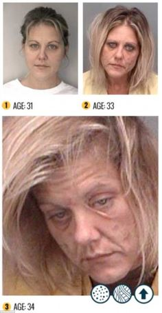 The affects of using meth within a few years.  So sad.  Please please get help if you struggle with a drug addiction.