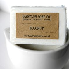Coconut Soap Exfoliating Soap All Natural Soap by BabylonSoapCo