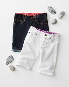 Long Jean Shorts - Baby Girls & Girls