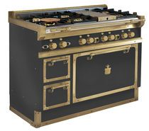 Gas range cooker / stainless steel / traditional / cast iron