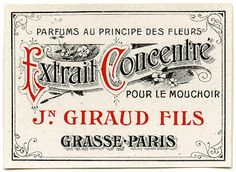 Antique Graphic - Fancy Paris Label - The Graphics Fairy