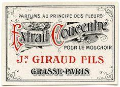 Antique Graphic - Fancy Paris Label - The Graphics Fairy