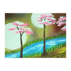 Decorate your walls with Tree canvas prints from Zazzle! Choose from thousands of great wrapped canvas to beautify your home or office. Tree Canvas, Canvas Art Prints, Wrapped Canvas, Moon, Poster, Painting, Decor, The Moon, Decoration