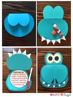 Free Dinosaur Craftivity. So cute!                                                                                                                                                                                 More