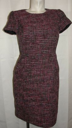 15fa9893dbd BODEN Dress Women s Size UK 12R US 8R Pink Green Shift TWEED Career Party  CHIC