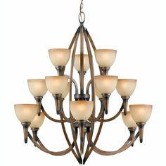 Olympian 15-light Torch Bronze Chandelier | Overstock.com Shopping - The Best Deals on Chandeliers & Pendants