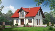 Projekt domu Miłosna 89,15 m2 - koszt budowy 112 tys. zł - EXTRADOM House Construction Plan, Home Fashion, House Design, Cabin, Mansions, Country, House Styles, Home Decor, Heart