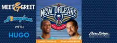 Come out to Coast Nightclub to meet Ryan Anderson and Lance Thomas of the New Orleans Pelicans!    Hugo and the Honeybees will be there too- so don't miss it!    https://www.facebook.com/events/319035164890711/