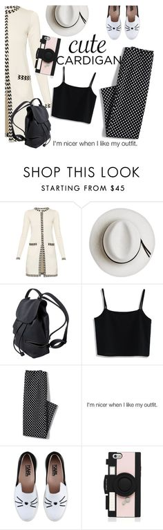 """""""I'm Nicer When I Like My Outfit"""" by clotheshawg ❤ liked on Polyvore featuring Diane Von Furstenberg, Calypso Private Label, Chicwish, Lands' End, Karl Lagerfeld, Kate Spade, cutecardigan and springlayers"""