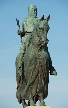 Statue of Robert the Bruce at Bannockburn, Scotland