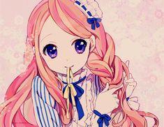 anime, anime eyes, anime girl, cute, girl, hair, himari, kawaii, otaku, pink, style