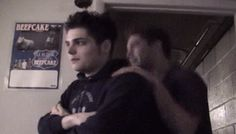 Gerard Way 2002, recording Bullets.>>Is that Ray or Frank behind him?<<that's Ray, you idiot.