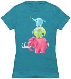 Stack Of Elephants T-Shirt.