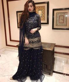 Bridal mehndi dresses - Fashion Fusion at its best! Inspired by the old world charm serves up a whammy with the new collection including classic colors and visually stunning artwork Available in Store a Pakistani Wedding Outfits, Pakistani Dresses Casual, Indian Fashion Dresses, Pakistani Dress Design, Indian Designer Outfits, Indian Outfits, Pakistani Party Wear, Indian Designers, Lehenga Wedding