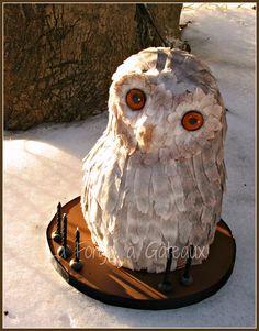 Owl cake - La Forge à Gâteaux