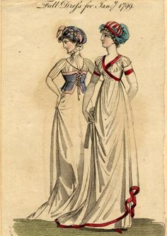 Round gowns, Winter 1799 :: Fashion Plate Collection, 19th Century