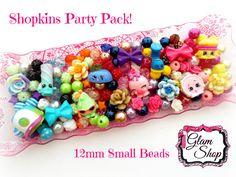 Shopkins Bracelet Kit Party Favor Set of 8 DIY by GlamShopBeads