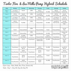 Turbo Fire and Les Mills Pump Hybrid Schedule! and free Coaching !