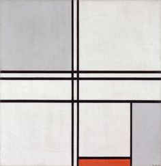 Piet Mondrian Dutch, 1935, Composition (No. 1) Gray-Red