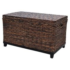 wicker trunk to go at the foot of my bed  https://www.target.com/p/wicker-large-storage-trunk-dark-global-brown-threshold-153/-/A-15130830