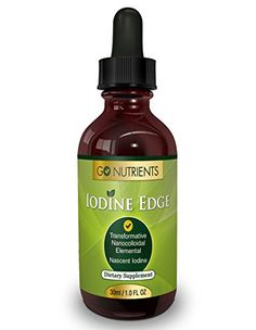 Nascent Iodine Supplement - High Potency Liquid Drops for Thyroid Support - One Bottle Last 3 Months - Iodine Edge Go Nutrients http://www.amazon.com/dp/B00J09K8EA/ref=cm_sw_r_pi_dp_oRuQwb1R91G4G