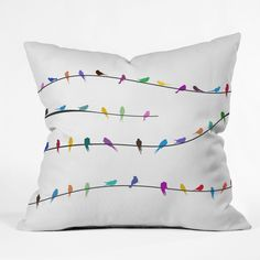 Belle13 Happy Spring Throw Pillow