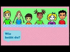 "▶ Deutsch lernen: Wie heißt du? - einfaches Kinderlied - ""What's your name?"" German song for kids - YouTube"