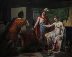 """Jérôme-Martin Langlois: """" Générosité d'Alexandre"""", 1819, oil on canvas,  Height 259.5; Width 324.5; Height with 269.5 cm frame; Width in cm with frame 335; Depth 7 + 1.5 (wedge), Toulouse, musée des Augustins."""