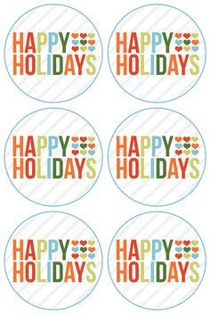 happy holidays free printable