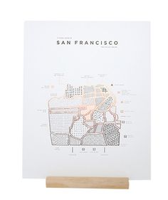 Affiche San Francisco - ROAM by 42 Pressed