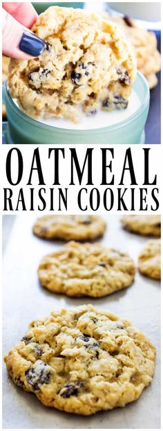 Best OATMEAL RAISIN COOKIES are soft and chewy, fully loaded with rolled oats and raisins. These cookies are just like what grandma used to make. #cookie #oatmeal #raisincookies  #cookies #chewycookies