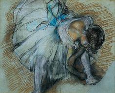Degas: Dancer adjusting her shoe
