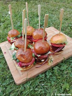 Caramel Apples, Hamburger, Stuffed Mushrooms, Vegetables, Desserts, Food, Stuff Mushrooms, Tailgate Desserts, Deserts