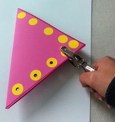 "Therapeutic Benefit: This is a good tool to strengthen muscles of the hand and also a great activity when teaching cutting skills because the hole puncher mimics the open/close motion of scissors.  Teach cutting complex figures by hole punching along the shape and cut through the holes. Punch out holes from different colored construction paper and use the ""confetti"" to create a picture or write your name"