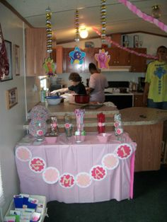 Candy table with banner
