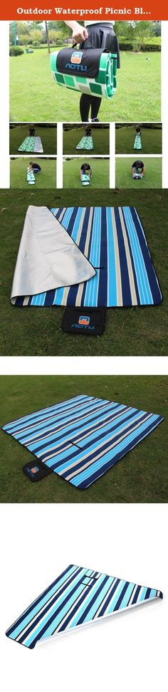 "Outdoor Waterproof Picnic Blanket Beach Blanket Camping Mat Pad 78"" X 78"" Blue Stripe. Product Description: This Picnic Blanket offers a quick, easy and compact solution for sitting on the floor, ground and wet surfaces like sand, dirt, grass or asphalt. It's easy to carry after being folded with handle. It is a good choice for camping, picnics, outdoor concerts and traveling. It is also great for backyards, dorm rooms, and vacations. Specification: - Color: Blue/Purple - Material: Fleece..."