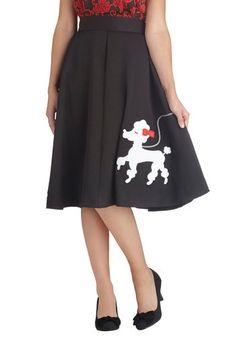 Chic Companion Skirt in Chien, A poodle skirt, guys! Moda Vintage, Vintage Skirt, Vintage Dresses, Retro Vintage, Swing Skirt, Only Fashion, Retro Dress, Vintage Inspired, High Waisted Skirt