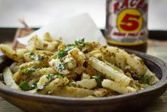 Indian Style Low Oil Fries. Fast and flavorful! http://www.yummly.com/blog/2013/02/featured-food-blog-the-colors-of-indian-cooking/