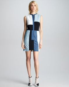 3.1 Phillip Lim Chambray Patchwork Dress at CUSP Neiman Marcus.