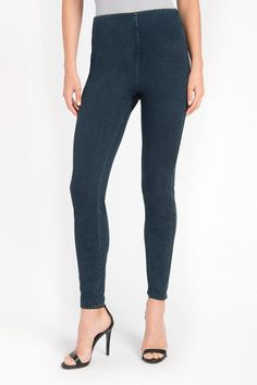 Banded stretch jeggings with cute ankle zipper is a must for your favorite sweater ensemble for Fall 2016. Easy stretch gives you style and comfort all in one.     Denim Zipper Jeggins by Lyssé. Clothing - Bottoms - Pants & Leggings - Leggings Saratoga, Wyoming
