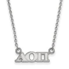 Zales Alpha Delta Pi Medium Sorority Necklace in Sterling Silver FHzegP