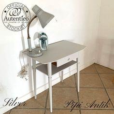 Silver retro natbord Autentico kalkmaling