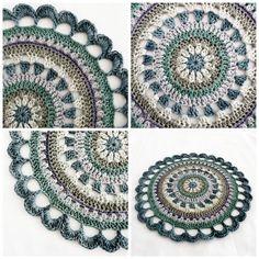 crochet / mandala/love the color combo!