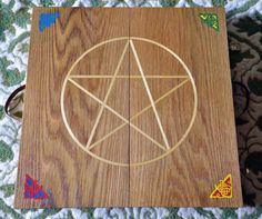 Portable Travel Altar Reclaimed Solid Oak by EarthSpiritImages