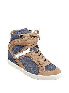 Perina Wedge Sneakers | GUESS.com