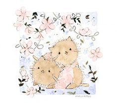 Иллюстрации художников, котята от Melonkitten- Maria
