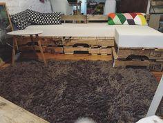 Pallet Sofa in Garden completes the look