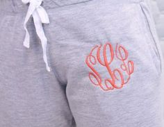 Girls Monogrammed Boyfriend-Style Sweat Pants